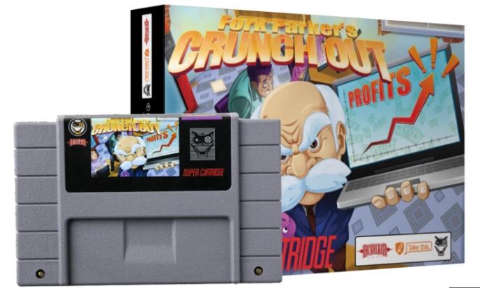 « Fork Parker's Crunch Out », le jeu Super Nintendo qui tourne en dérision les travers de l'industrie du jeu vidéo.