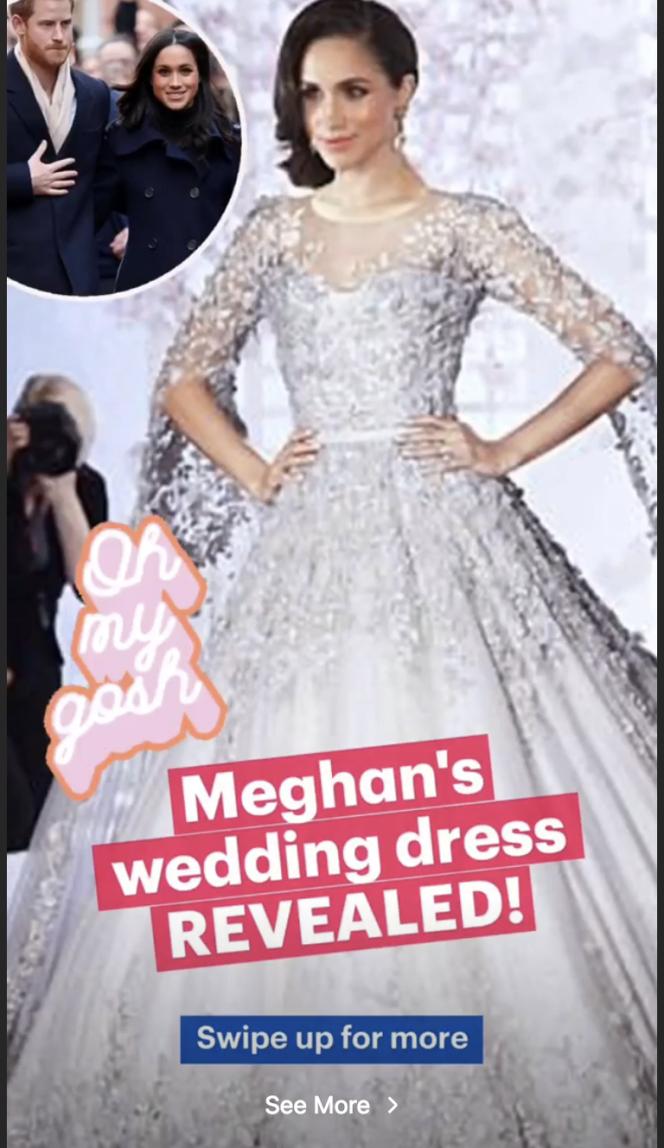 Le Daily Mail a mis au point un photomontage «imaginaire» de l'actrice américaine portant un modèle approchant ses prédictions.