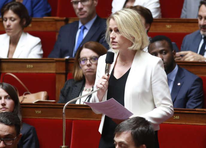 La députée (LRM) Barbara Pompili, le 2 août 2017 à l'Assemblée nationale.