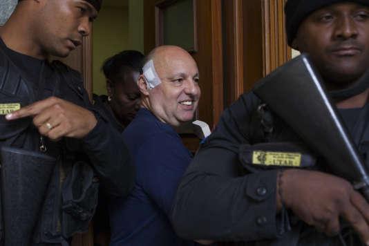 Le Français Christophe Naudin, transféré en France après sa condamnation par la justice dominicaine pour son rôle dans l'affaire dite d'« Air Cocaïne».