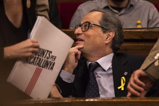 Quim Torra, séparatiste convaincu, élu président de la Catalogne