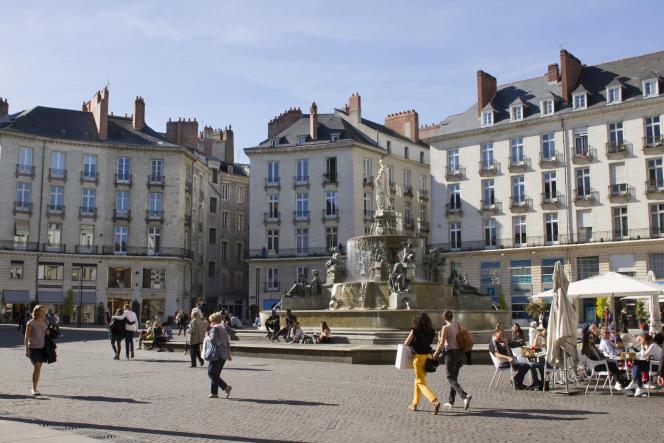 La Place Royale à Nantes.