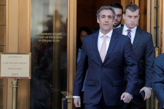 L'avocat Michael Cohen à sa sortie du palais de justice de New York, le 26 avril.