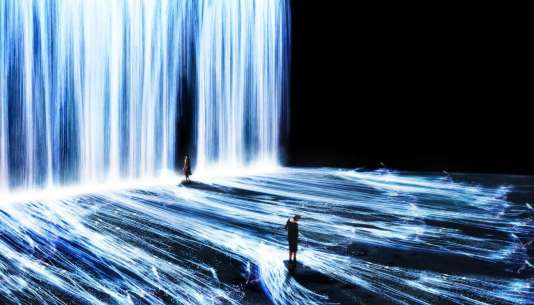 « Universe of Water Particles », TeamLab.