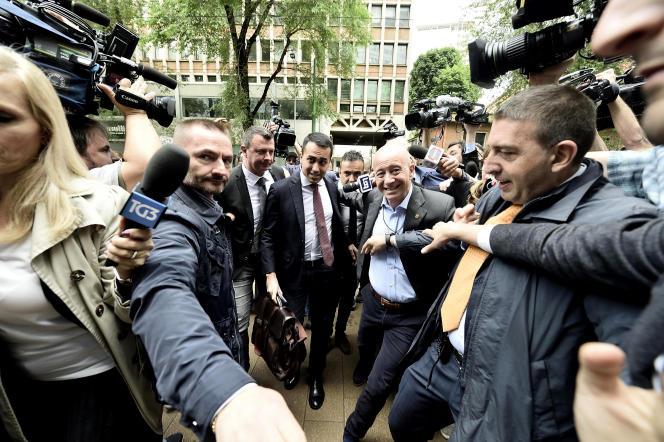Luigi Di Maio, le leader du M5S, à Milan le 13 mai.