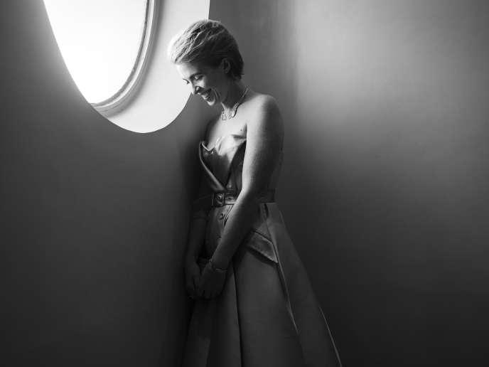 Eva Husson à l'hôtel Majestic à Cannes, le 12 mai 2018.