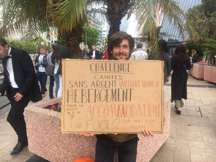 Edwin, 25 ans, au Festival de Cannes en mai 2018.