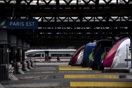 La gare de l'Est, à Paris, le 3 avril 2018.
