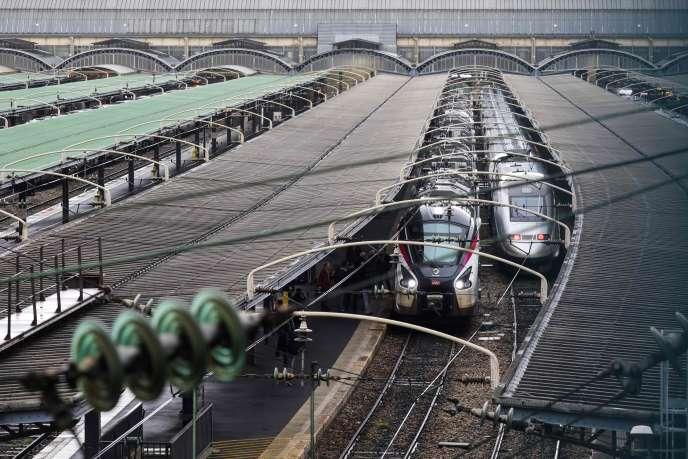 Gare de l'Est à Paris, en février.