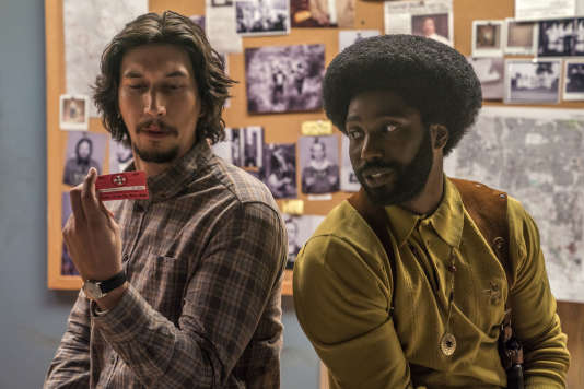 Adam Driver et John David Washington dans « BlacKkKlansman », de Spike Lee.
