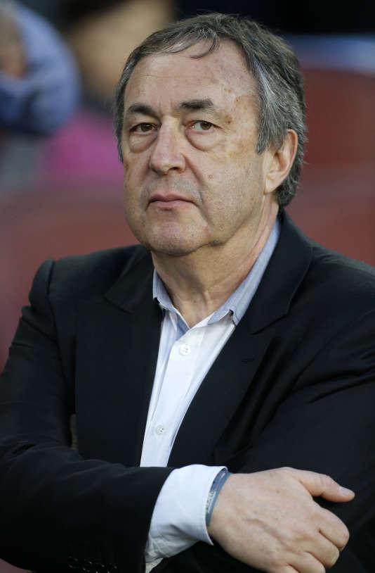 Jean-Pierre Bernès, au Camp Nou, en avril 2015.
