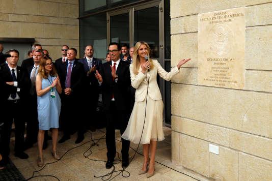 Ivanka Trump lors de l'inauguration de l'ambassade des Etats-Unis à Jérusalem, le 14mai.