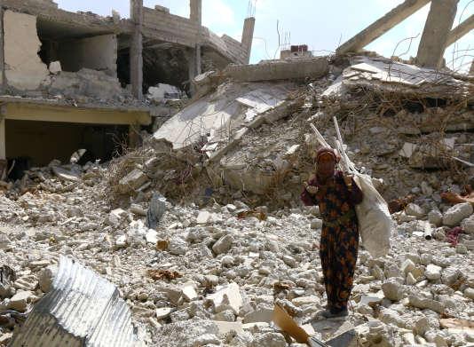 Dans les ruines de Rakka, le 14 mai.