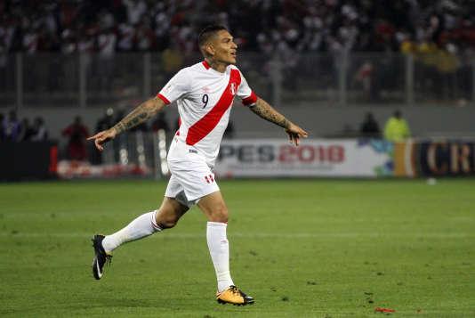 Guerrero, après un but contre la Colombie, en octobre 2017.