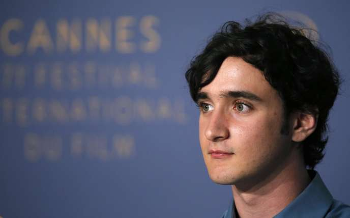 Adriano Tardiolo lors de la conférence de presse du film «Heureux comme Lazzaro» au 71e Festival de Cannes, le 14 mai 2018.