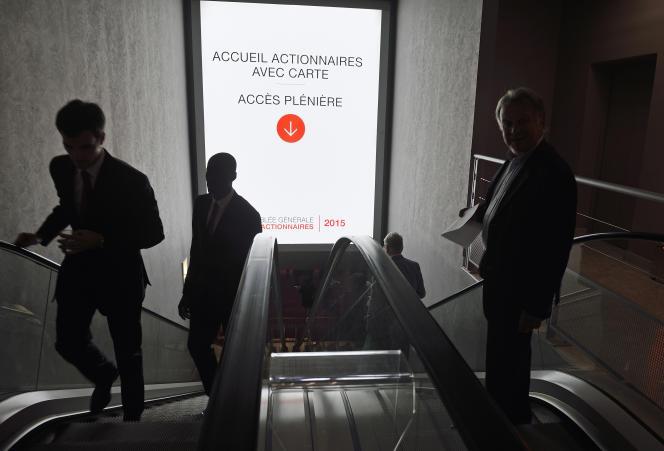 Assemblée générale de la Société générale, à La Défense, le 19 mai 2015.
