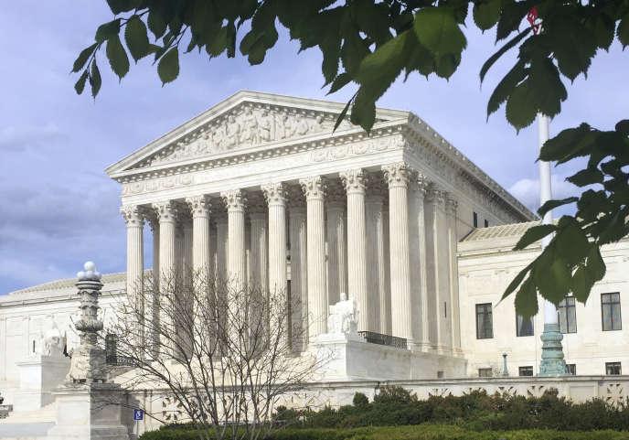 Le siège de la Cour suprême à Washington, le 23 avril 2018.