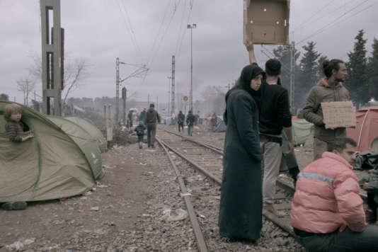 Des migrants dans le camp d'Idomeni, en Grèce, en 2016.
