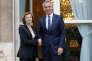 Florence Parly et Jens Stoltenberg, à Paris, le 14 mai.