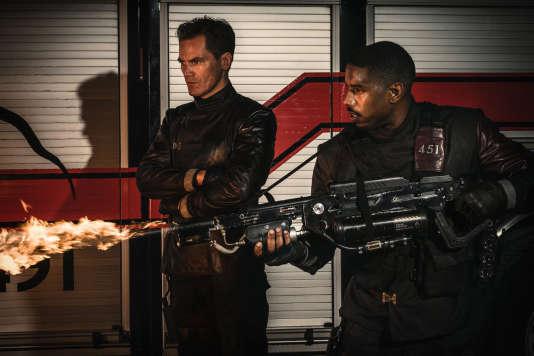 Michael Shannon etMichael B. Jordan dans«Fahrenheit 451»,de Ramin Bahrani.