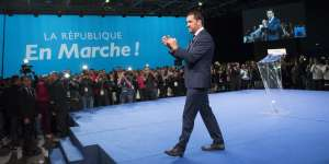 1er conseil de la république En Marche a la salle Eurexpo de Lyon, discours de cloture du délégué general de la République en Marche Christophe Castaner