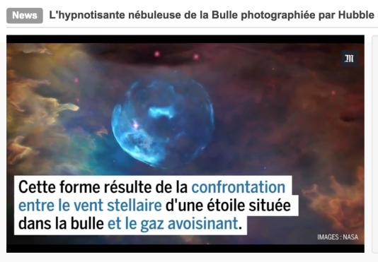 Capture d'écran d'une vidéo d'actualité du« Monde», ancienne version.
