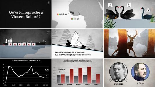 Captures d'écrans de sujets réalisés depuis 2017.