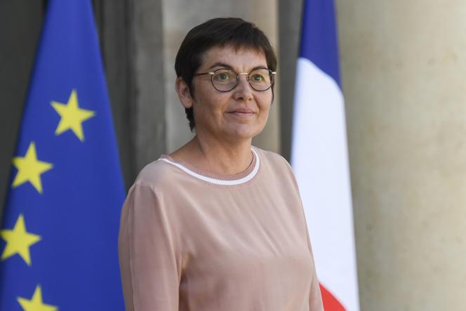 La ministre des outre-mer, Annick Girardin, à l'Elysée, le 27 avril.