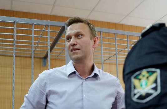Alexeï Navalny lors de son procès à Moscou le 15 mai.