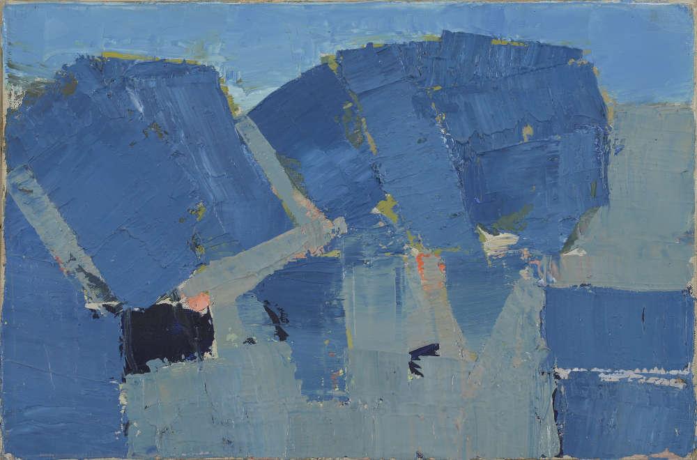 «En Provence, le peintre développe une palette de bleus qui lui permet de capter les nuances les plus subtiles de la lumière provençale. La lumière bleutée du ciel s'inscrit dans l'arbre lui-même.»