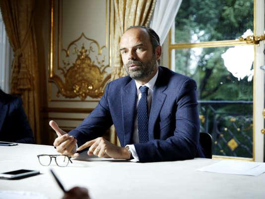 Edouard Philippe, premier ministre, dans son bureau de l'hôtel de Matignon, le 14 mai.