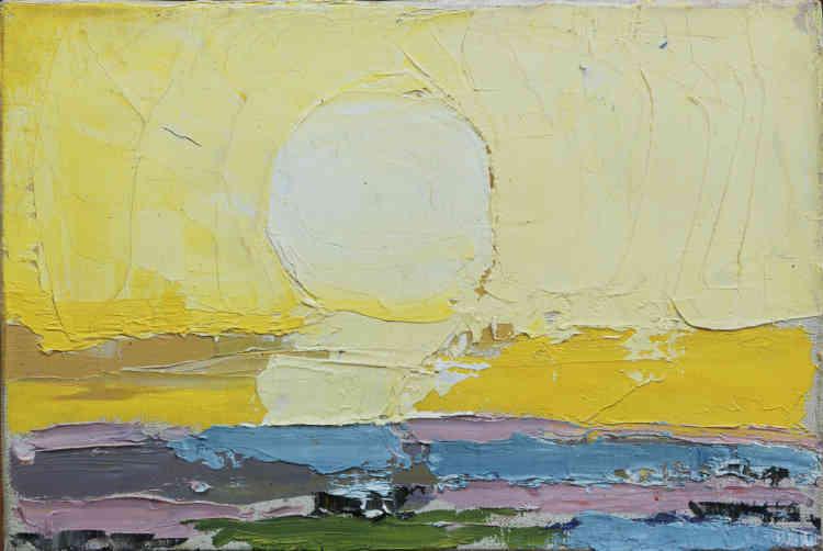 «Dans ce tableau peint sur le motif, Staël aborde le soleil frontalement en évitant toute représentation convenue. Il a voulu saisir la source de la lumière, celle qui ne peut être regardée de face.»
