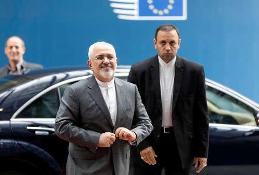 Le ministre des affaires étrangères iraniens Mohammad Zarif, le 14 mai à Bruxelles.