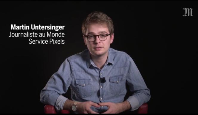 Capture d'écran d'une interview sur fond neutre telle qu'on le pratique dorénavant au« Monde».