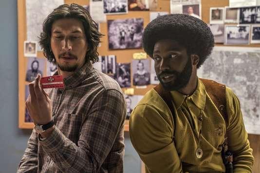 «BlacKkKlansman», film américain de Spike Lee, avec Adam Driver et John David Washington, en compétition au 71e Festival de Cannes.
