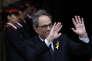 L'indépendantiste Quim Torra, nouveau président du Parlement catalan, lundi 14 mai, à Barcelone.