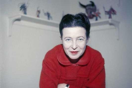 Simone de Beauvoir, en 1957.