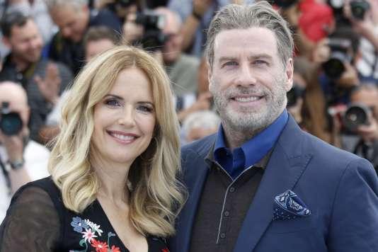Kelly Preston etJohn Travolta sont au 71e Festival de Cannes pour présenter en avant-première«Gotti», un biopic deKevin Connolly sur le gangsterJohn Gotti, projeté hors compétition lors d'une soirée spéciale, le 15mai.