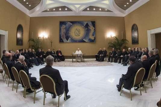 Le 15 mai, le pape François recevait les évêques du Chili au Vatican.