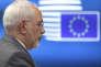 Le ministre des affaires étrangères iranien, Mohammad Zarif, venu chercher des soutiens européens, à Bruxelles, le 15 mai.