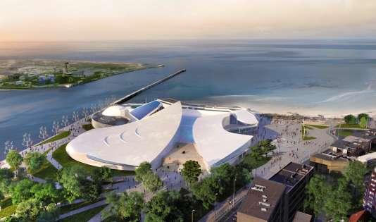 L'aquarium Nausicaá, à Boulogne-sur-Mer, ressemble à une raie manta.