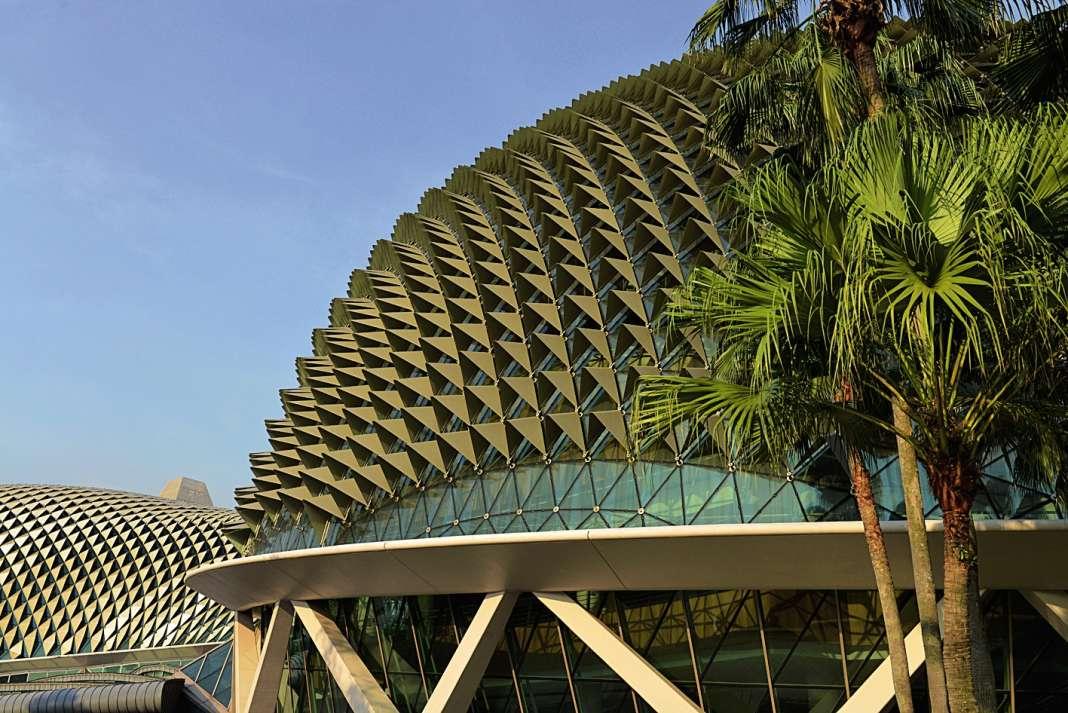 Parmi les bâtiments récents ou projets qui puisent leur forme dans la nature, le Centre d'arts de Singapour et ses piquants de hérisson.