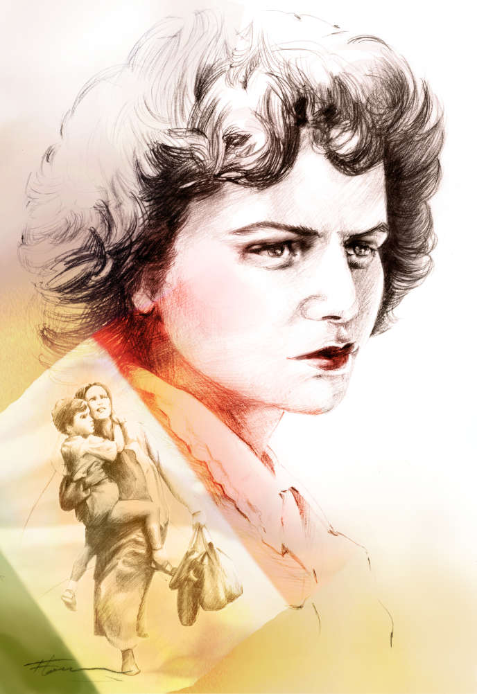 L'écrivaine italienne Elsa Morante (1912-1985).