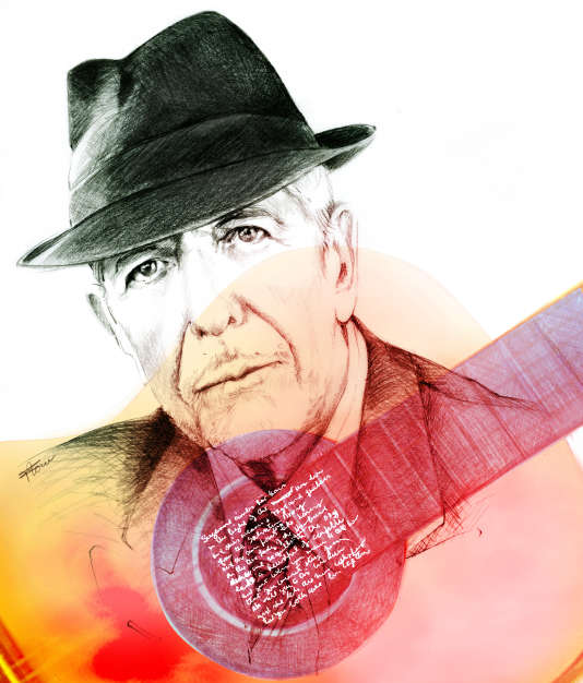 Le chanteur et poète canadien Leonard Cohen (1934-2016).