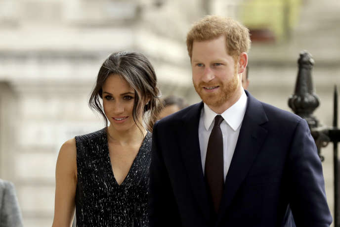 Meghan Markle et le prince Harry, le 23 avril à Londres.