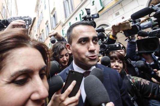 Luigi Di Maio, le chef de file du M5S, à Rome, le 16 mai.