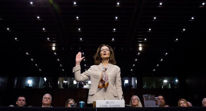 La directrice de la CIA, Gina Haspel, lors de sa prestation de serment au Capitole, à Washington, le 9 mai.
