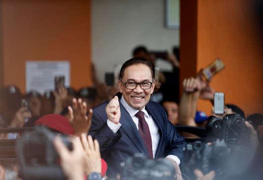 Anwar Ibrahim a quitté l'hôpital àKuala Lumpur, mercredi.