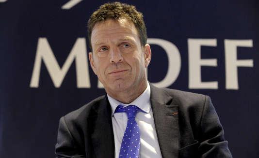 Le candidat à l'élection de la présidence du Medef, Geoffroy Roux de Bézieux, le 4décembre 2014.