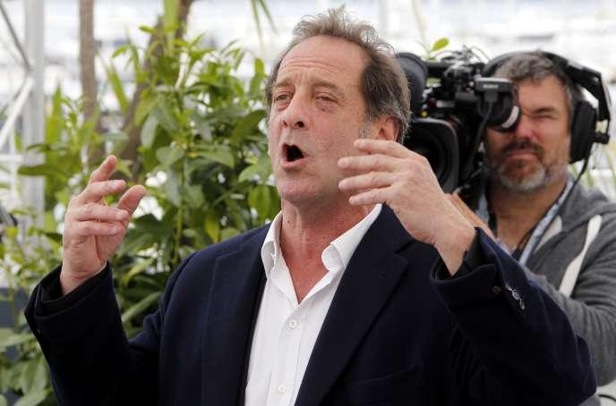 La prestation de Vincent Lindon (ici lors d'une séance photo au palais des festivals à Cannes, le 16mai) dans«En guerre», de Stéphane Brizé, a été longuement applaudie lors de la projection du film en compétition.